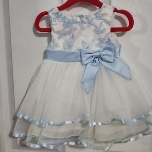 Baby white & blue dress